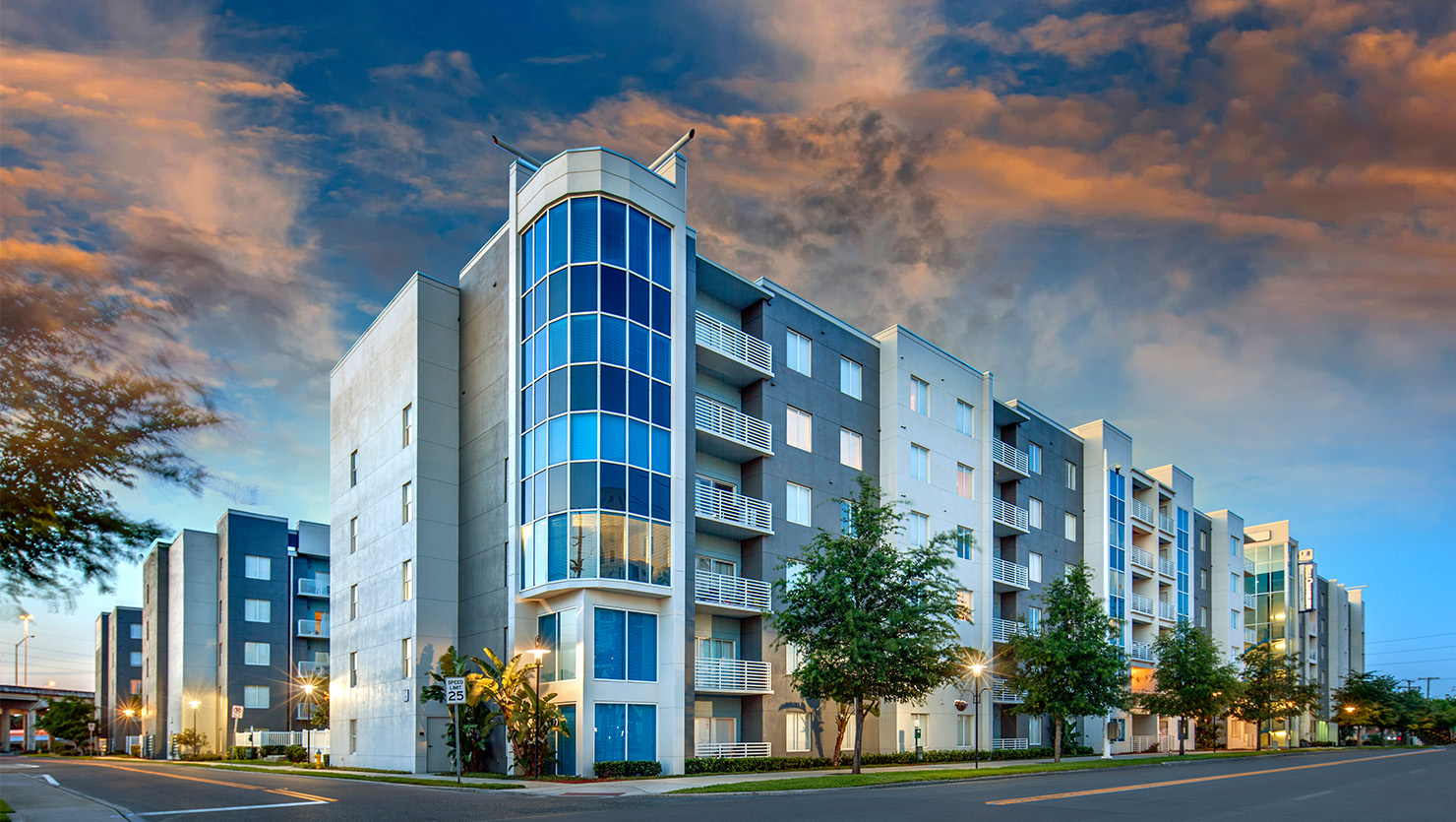 Bell Channelside apartment building exterior
