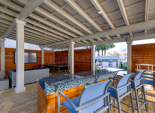 Bell Channelside apartments outdoor clubroom