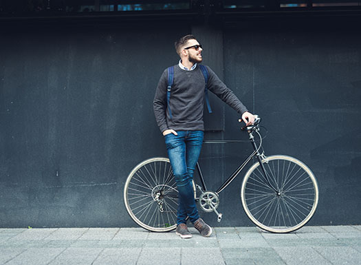 Man with bike